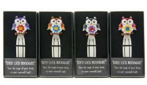 Jewel Pewter Flower Owl Book Mark Available in 4 Colours 20021